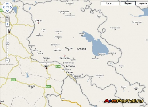 Armenia Map (Google)